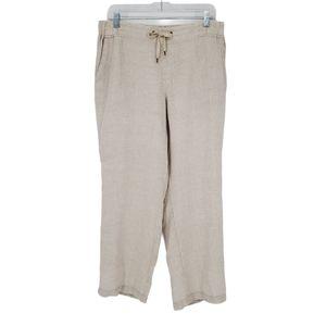 L.L. Bean Linen Favorite Fit Crop Pants